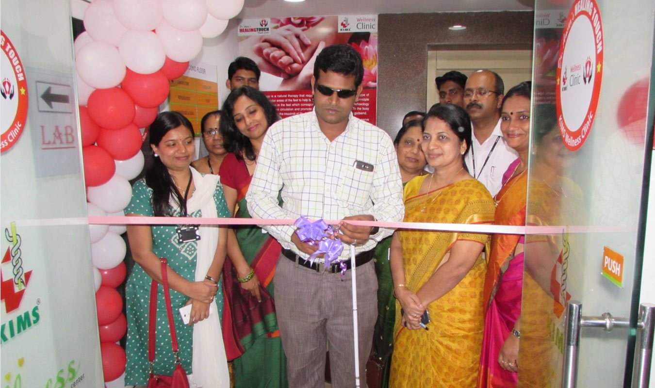 Dr. Ansar inaugurating KIMS Wellness Clinic